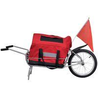 vidaXL Remorque de vélo à une roue avec sac de rangement