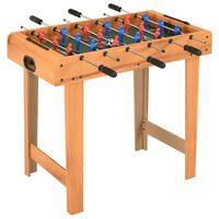 vidaXL Mini table de football 69x37x62 cm Érable