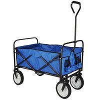 HI Chariot pliable Bleu 53,5x83x27 cm