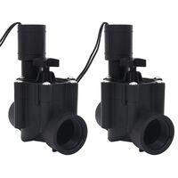 vidaXL Électrovannes d'irrigation à l'eau 2 pcs c.a. 24 V