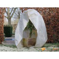 Nature Couverture d'hiver avec fermeture 70 g/m² Beige 2x2,5 m