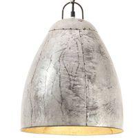 vidaXL Lampe suspendue industrielle 25 W Argenté Rond 32 cm E27