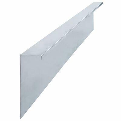 vidaXL Plaques de clôture à escargots 4 pcs Acier 170x7x25 cm 0,7 mm