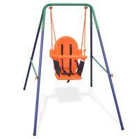 vidaXL Balançoire pour enfants avec harnais de sécurité Orange