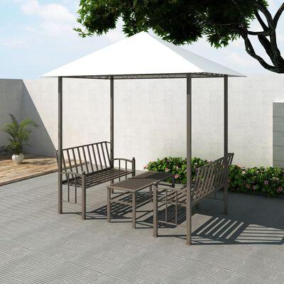 vidaXL Pavillon de jardin avec table et bancs 2,5 x 1,5 x 2,4 m