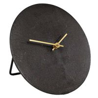 Gifts Amsterdam Horloge de bureau Moon S Aluminium Noir 20 cm