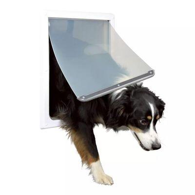 TRIXIE Chatière pour chiens à double sens Taille M-XL 39 x 45 cm Blanc