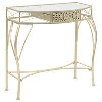 vidaXL Table d'appoint Style français Métal 82 x 39 x 76 cm Doré