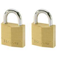 Master Lock Cadenas 2 pcs Laiton massif 30 mm 130EURT