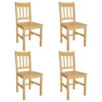 vidaXL Chaises de salle à manger 4 pcs Bois de pin
