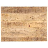 vidaXL Dessus de table Bois de manguier solide 25-27 mm 90x60 cm