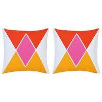 vidaXL Coussins imprimés 2 pcs Multicolore 40x40 cm Coton