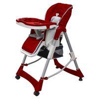 vidaXL Chaise haute pour bébés Bordeaux Hauteur réglable