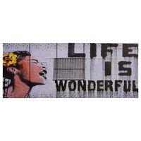 vidaXL Ensemble de tableau sur toile Wonderful Multicolore 150x60 cm