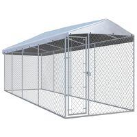 vidaXL Chenil extérieur avec toit pour chiens 760x190x225 cm