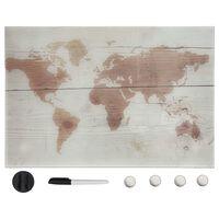 vidaXL Tableau noir magnétique mural Verre 50x30 cm