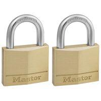 Master Lock Cadenas 2 pcs Laiton massif 40 mm 140EURT