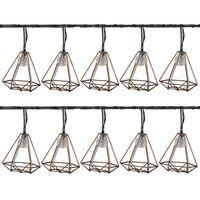 Luxform Lampes de fête de jardin à LED solaires 10 pcs Sousse Doré