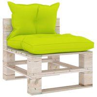 vidaXL Canapé de milieu palette de jardin avec coussins Bois de pin