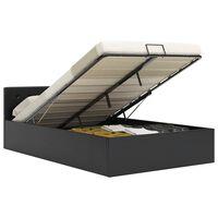vidaXL Cadre de lit à rangement hydraulique Noir Similicuir 140x200 cm