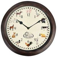 Esschert Design Horloge avec sons d'animaux de ferme