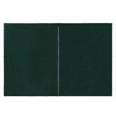 vidaXL Portes de tente de réception 2 pcs avec fermeture éclair Vert