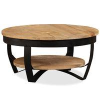 vidaXL Table basse Bois massif de manguier 65 x 32 cm