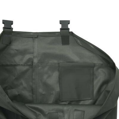 vidaXL Pantalon échassier avec bottes Vert Pointure 45