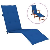 vidaXL Coussin de chaise de terrasse Bleu royal 75+105x50x4 cm