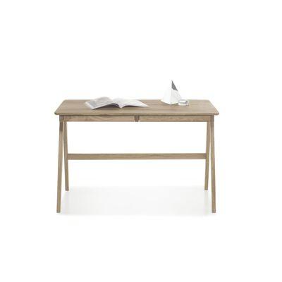 Bureau avec 2 tiroirs en chêne massif - L120 x H76 x P65 cm