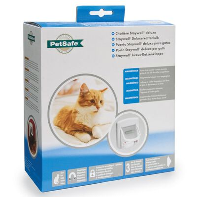 PetSafe Chatière magnétique à 4 voies Deluxe 400 Blanc