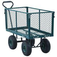 vidaXL Chariot à main de jardin Vert 350 kg