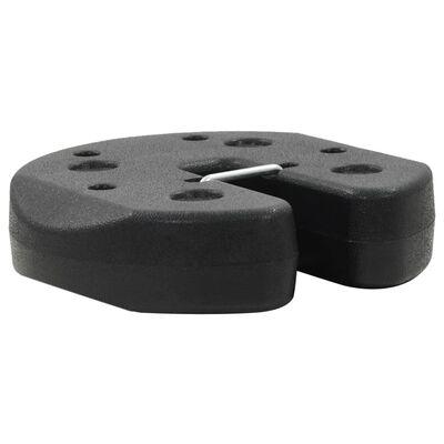 vidaXL Poids pour belvédère 4 pcs Noir 220 x 30 mm Béton