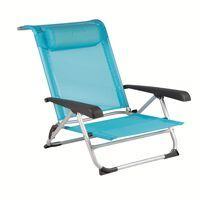 Bo-Camp Chaise de plage Bleu 1204784