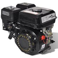 vidaXL Moteur à essence 6,5 CH 4,8 kW Noir