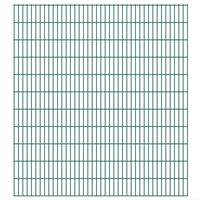 vidaXL Panneaux de clôture de jardin 2D 2,008x2,23 m 32 m total Vert