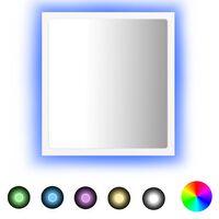vidaXL Miroir à LED de salle de bain Blanc 40x8,5x37 cm Aggloméré