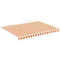 vidaXL Tissu de remplacement pour auvent Jaune et orange 4x3 m