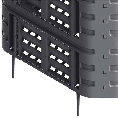 vidaXL Composteur de jardin Noir 93,3x93,3x146 cm 1000 L