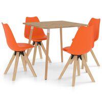 vidaXL Ensemble de salle à manger 5 pcs Orange