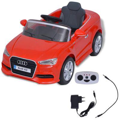vidaXL Voiture électrique pour enfants télécommandée Audi A3 Rouge