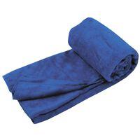 Travelsafe Serviette en éponge microfibre L Bleu royal TS3101