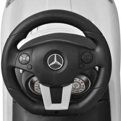 vidaXL Voiture blanche pour enfants Mercedes Benz