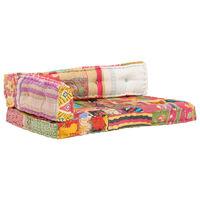 vidaXL Coussin de canapé palette Multicolore Tissu Patchwork