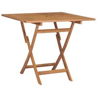 vidaXL Table pliable de jardin 85x85x76 cm Bois de teck solide