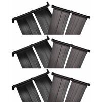 vidaXL Panneaux solaires de chauffage de piscine 6 pcs 80x620 cm