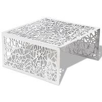 vidaXL Table basse argentée Design géométrique Aluminium