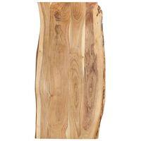 vidaXL Dessus de table Bois d'acacia massif 120x50-60x2,5 cm