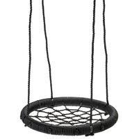Swing King Balançoire en forme de nid noir 60 cm
