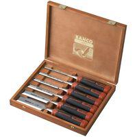 BAHCO Jeu de burins en boîte en bois 6 pcs 434-S6-EUR